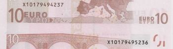 The backside of the same 'note' with the well known serial number X1017 which exposes the artist.