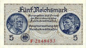 2 1 5 WWII GERMAN PAPER MONEY COLLECTION and 20 REICHSMARKS GREAT!! 10