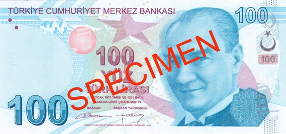 100 Lira - © Central Bank of the Republic of Turkey