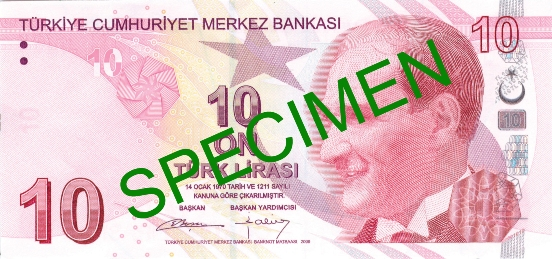 10 Lira - © Central Bank of the Republic of Turkey
