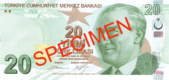 20 Lira - © Central Bank of the Republic of Turkey
