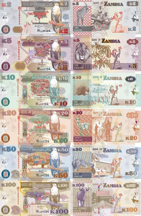 Image result for Zambian Kwacha banknotes