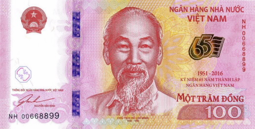 Vietnam Issues Commemorative 100 Dong Note Stevenbron Nl