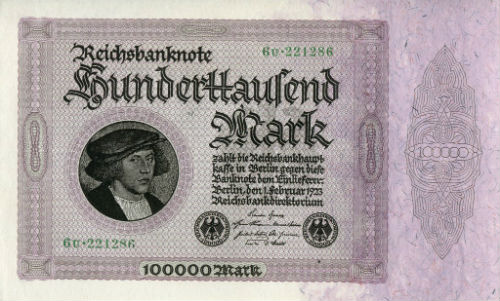 German Reich Weimar Republic Banknote 500 Mark